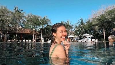 Staycation di Bali, Yuki Kato Seru Sepedaan hingga Spa Hotel Bintang 5