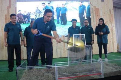 Anies Groundbreaking Pembangunan Rumah DP 0 Rupiah di Cilangkap