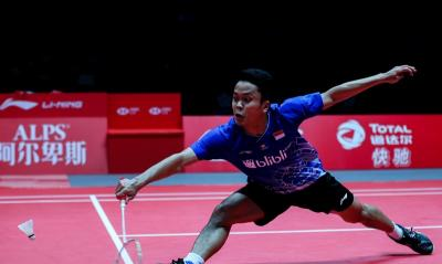 Menyerah dari Momota, Anthony Jadi Runner-up di BWF World Tour Finals 2019