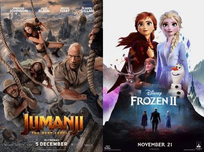 Raih USD60 Juta, Jumanji 3 Lengserkan Frozen 2 dari Puncak Box Office