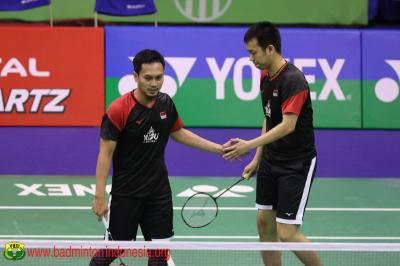 Ahsan Hendra Susah Payah Lolos ke Semifinal Indonesia Masters 2020