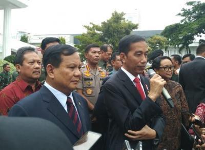 Jokowi Hadiri Rapim Kemhan, Prabowo: Bangkitkan Semangat Komunitas Pertahanan