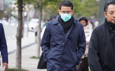Sandiaga Uno ke Jepang, Diingatkan Netizen Pakai Masker
