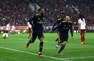 Olympiakos vs Arsenal, Gol Tunggal Lacazette Menangkan <i>The Gunners</i>