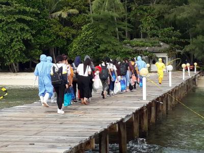 Melihat Suasana Pulau Sebaru di Hari Kedua Observasi 188 WNI