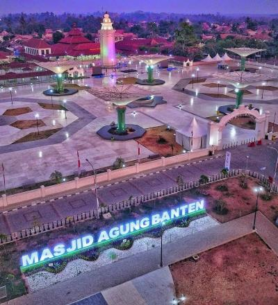 Intip Pesona Masjid Agung Banten yang Sangat Mirip Masjid Nabawi