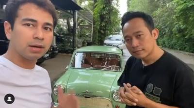 Mobil Morris Raffi Ahmad Resmi Jadi Milik Denny Cagur