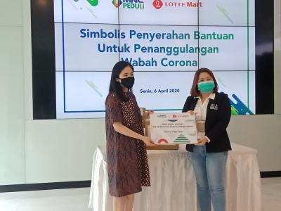 Lotte Mart-MNC Peduli Kerja Sama Bantu Tangani Corona