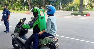 Jelang Beroperasi, Driver dan Penumpang Ojol Wajib Pakai Masker